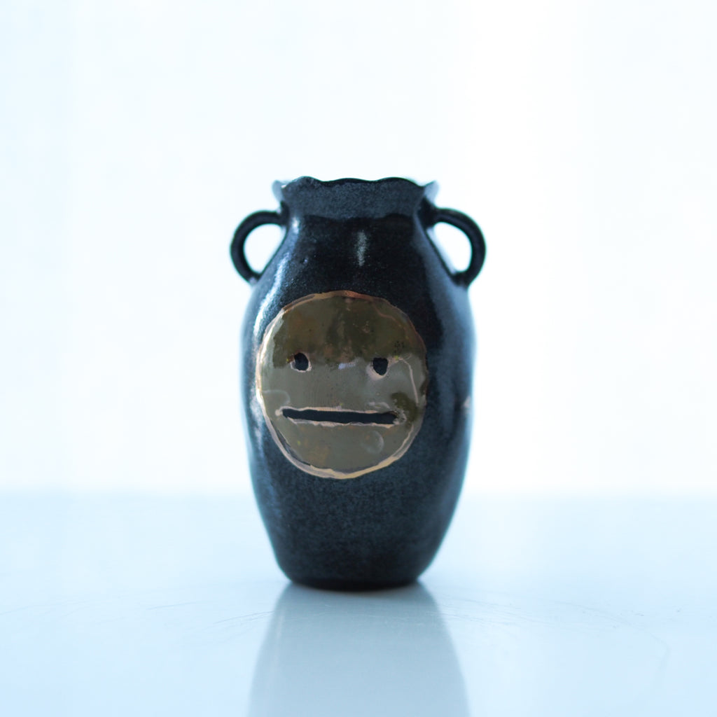 Blah Face Handled Mini Vase #2 - Bonnie Hislop