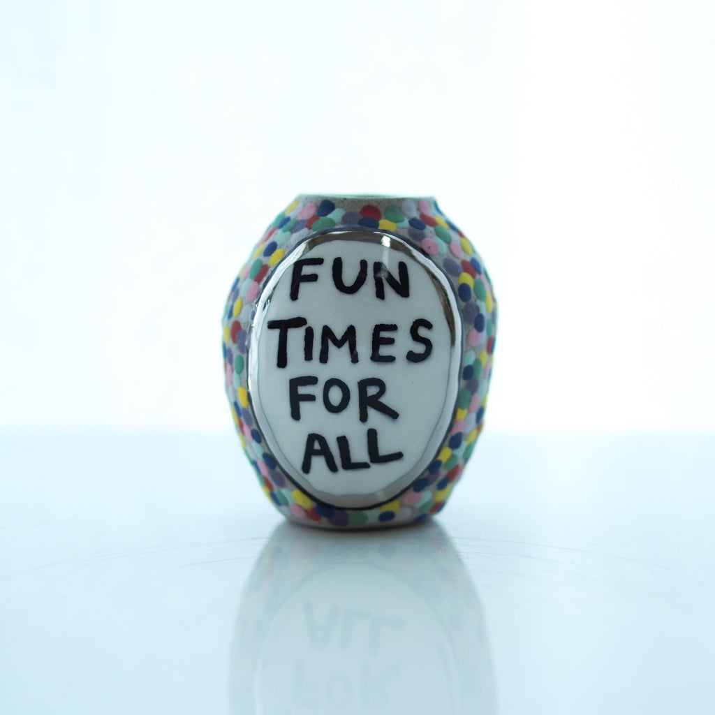 Fun Times For All Mini Vase - Bonnie Hislop