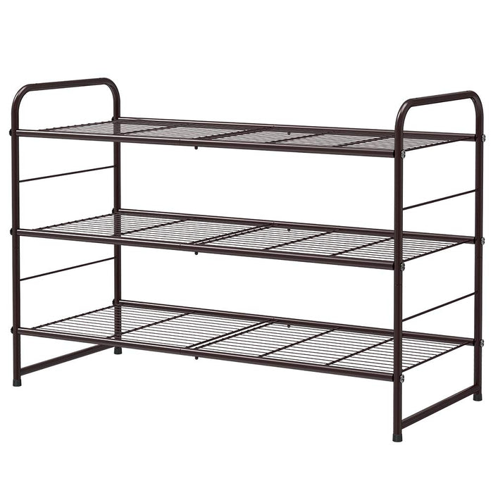 NEX 3 Tier Shoe Rack Stackable Metal Shoe Shelves Storage Organizer Rack (NX-HK58-17)