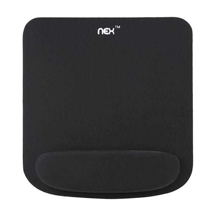 NEX Mouse Pad with Memory Foam Wrist Rest, Non-slip Rubber Base Mouse Mat for Typist Office Black (NX-B001-1)
