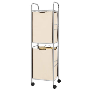 NEX 2-Tier Laundry Sorter Cart Laundry Hamper on Wheels, Detachable (NX-HK45-27S)