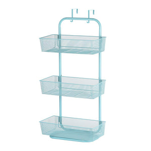 NEX Over the Door Basket Organizer, 3-Tier Mesh Basket Hanging Storage Unit Over Door Pantry Rack Organizer Blue (NX-HK14-07L)