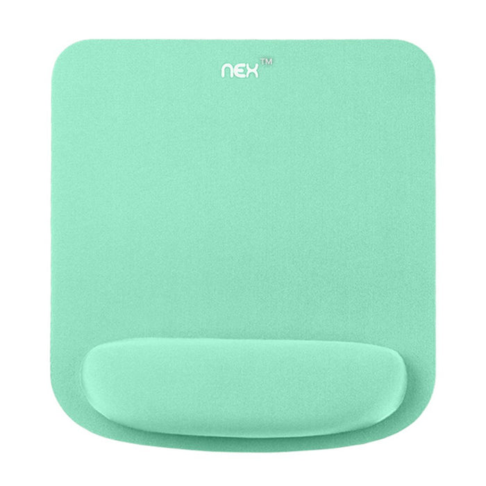 NEX Mouse Pad with Memory Foam Wrist Rest, Non-slip Rubber Base Mouse Mat for Typist Office Mint Green (NX-B001-6)