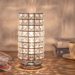 HAITRAL-Crystal-Cylinder-Table-Lamp-Silver-HT-BD016