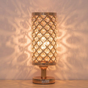 HAITRAL-Crystal-Cylinder-Table-Lamp-Gold-HT-BD017G