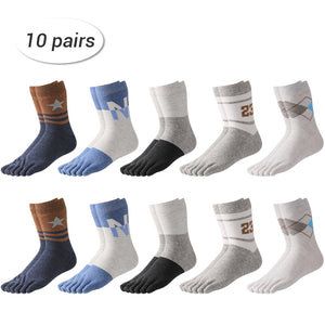 LAITRAL-Men's-Patterned-Finger-Toe-Socks-LT-BK023