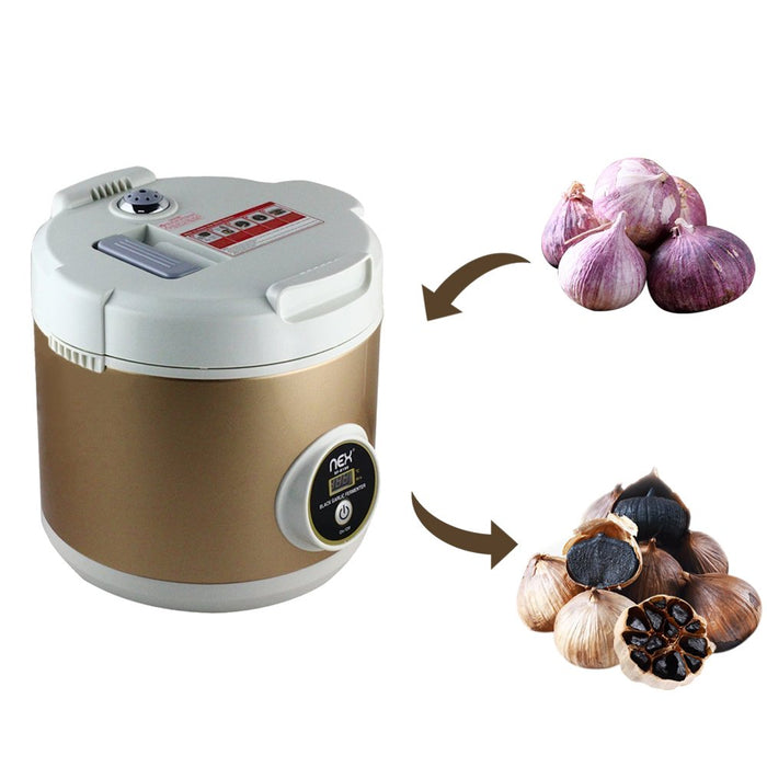 NEX Professional Black Garlic Fermenter With One Touch Automatic Operation Grogram, Family Size, Gold Color (NE-KF20)
