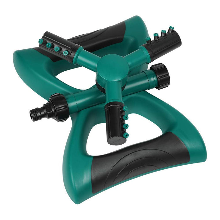 NEX 360 Rotating Lawn Sprinkler- Adjustable Lawn Irrigation System With Three Arm Sprinkler, 12 Built-in Spray Nozzles, Weighted Base (NE-PL06-10)