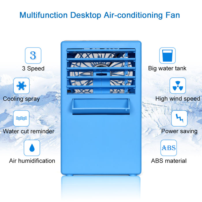 NEX 3-in-1 Blue Color Portable Air Conditioner, Personal Space Cooler, Humidifier, Purifier (NX-CA001BL)