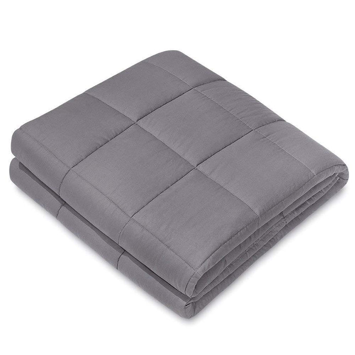 "NEX Weighted Blanket (48"" x 72"", 12Lbs.), Improves with Sleep, Anxiety, Autism, ADHD, Insomnia, Stress Sleep Therapy, High Quality Cotton Materials, Hypoallergenic- Dark Grey (NX-CF-487212DG)"