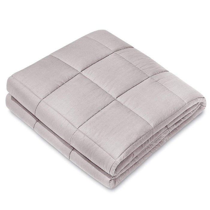 "NEX Weighted  Blanket (60"" x 80"", 17Lbs) Improves With Sleep, Anxiety, Autism, ADHD, Insomnia, Stress for Kids and Adults, Provide Warmth and Comfort, Sleep Therapy, High Quality Cotton Materials, Hypoallergenic-Light Grey (NX-CF-608017LG)"