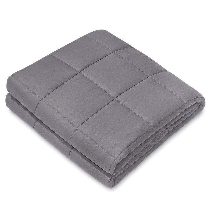 "NEX Weighted Blanket (60"" x 80"", 20Lbs) Improves With Sleep, Anxiety, Autism, ADHD, Insomnia, Stress for Kids and Adults, Provide Warmth and Comfort, Sleep Therapy, High Quality Cotton Materials, Hypoallergenic-Dark Grey (NX-CF-608020DG)"