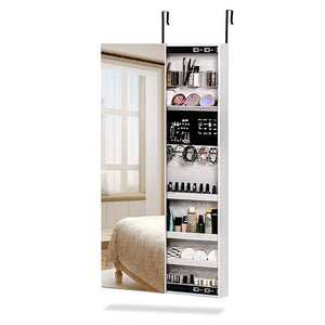 NEX-Door-Mounted-Jewelry-Armoire-Makeup-Storage-Organizer-NX-D018