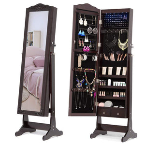 NEX-Lockable-Full-Length-Jewelry-Armoire-Mirror-NX-DA025