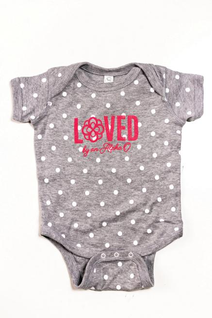 Grey Loved Infinity Onesie