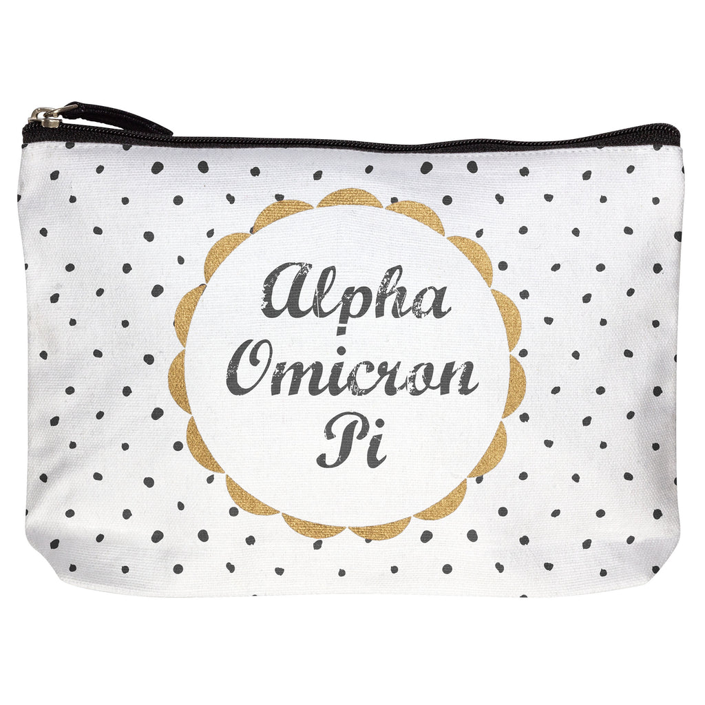 Polka Dot Cotton Make-up Bag