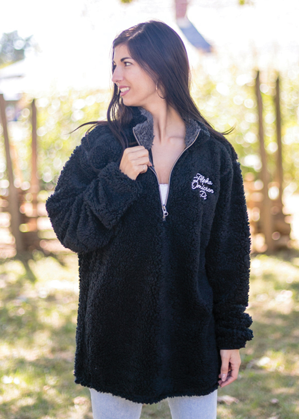 Black Sherpa 1/4 Zip
