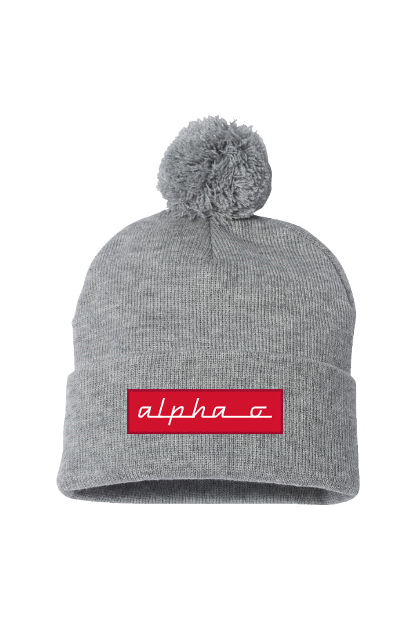 Heather Grey Pom Beanie
