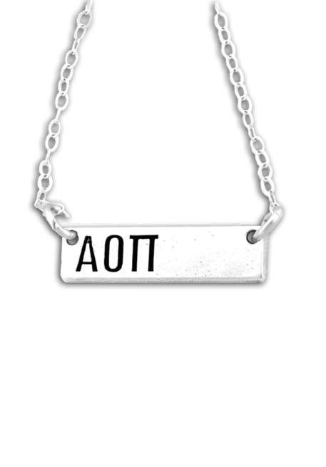 Horizontal Letters Necklace