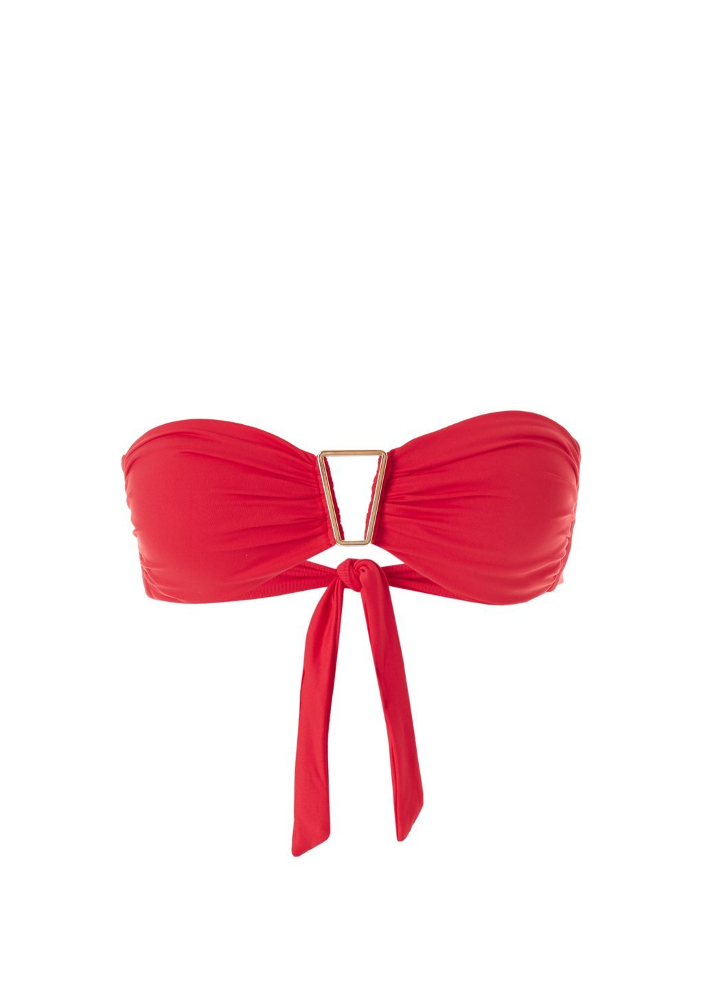 Exclusive Barcelona Red Bandeau Triangle Trim Bikini Top