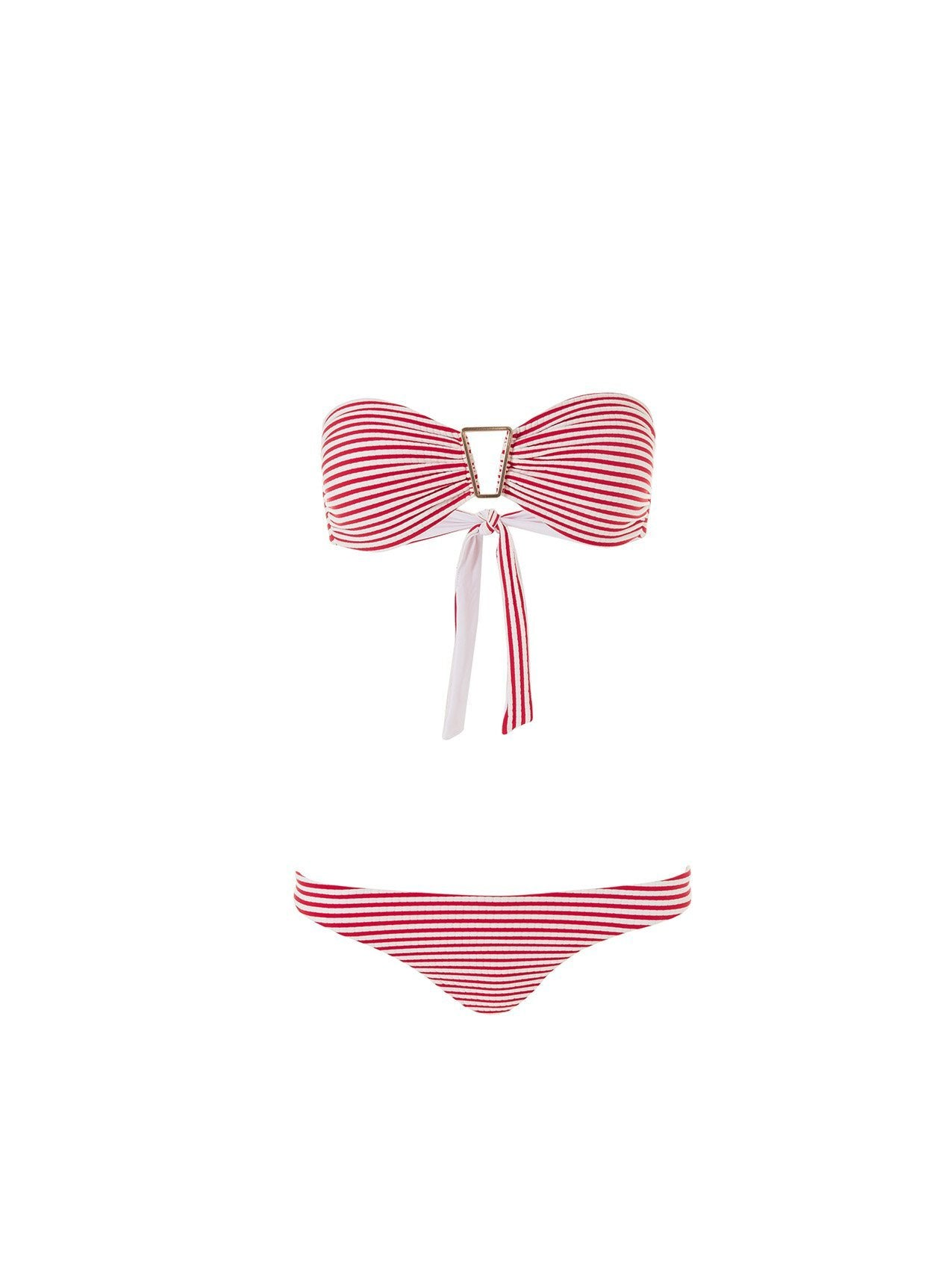barcelona bikini nautical red