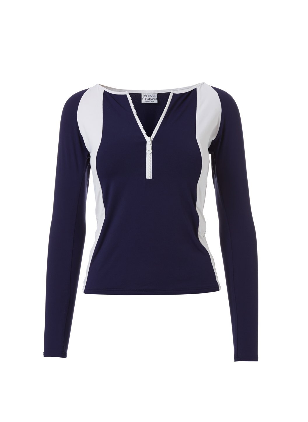 Bondi Navy White Sports Long Sleeve Rash Vest Top
