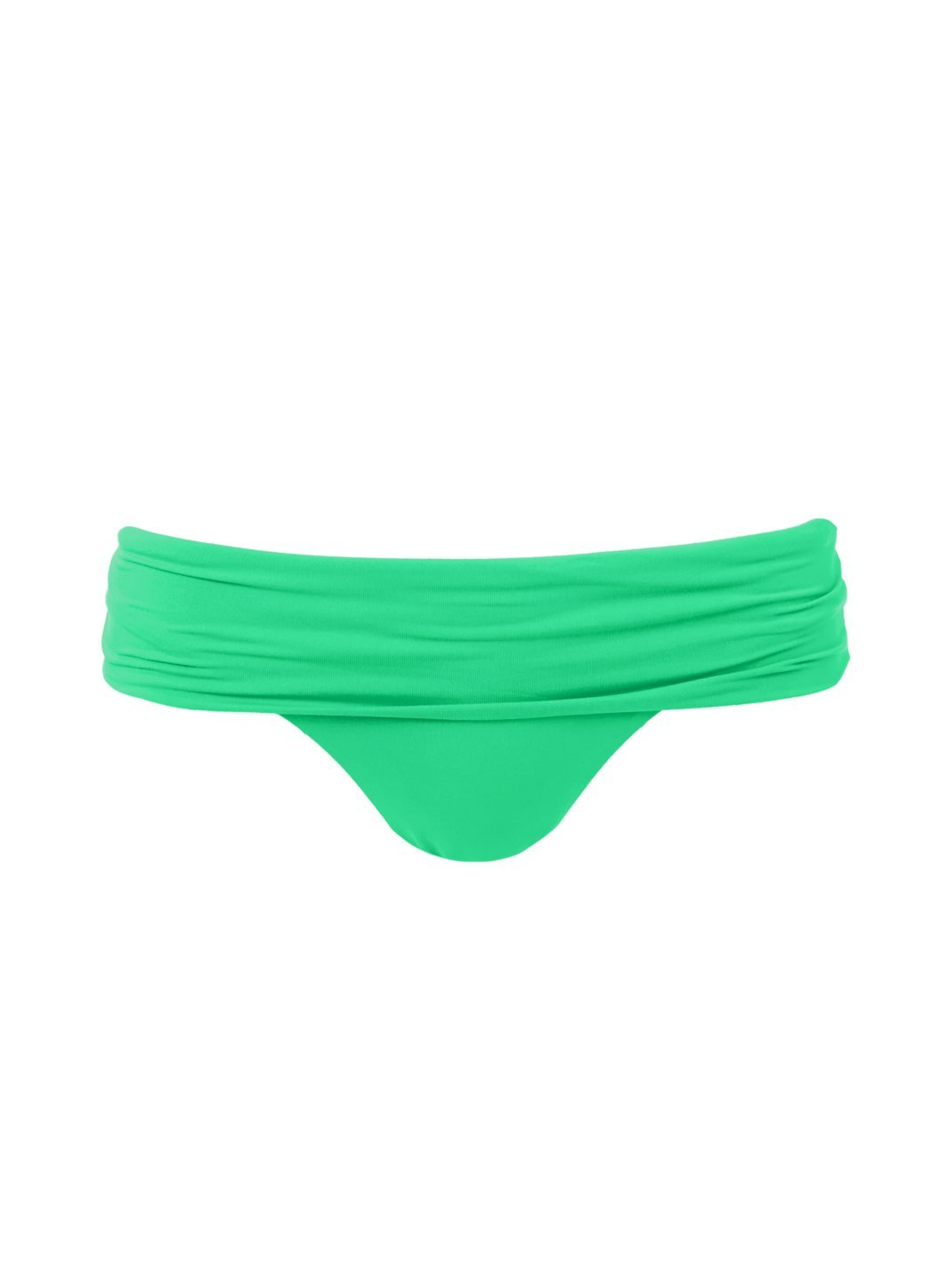 Brussels Green Seamless Fold Over Bikini Bottom