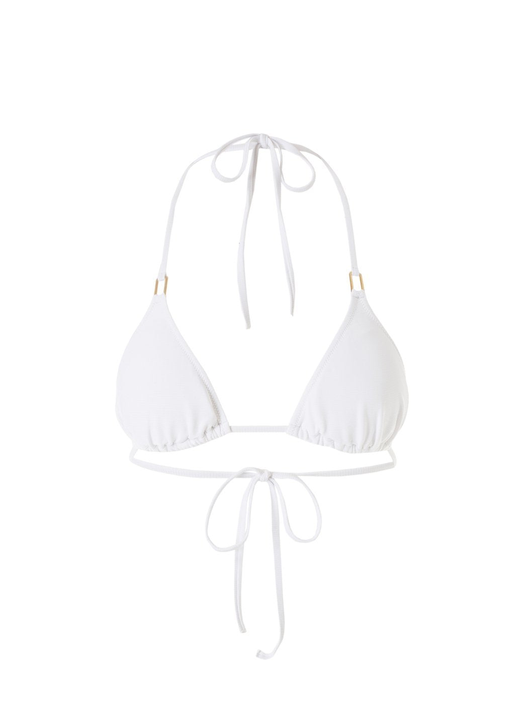 Exclusive Cancun White Ribbed Classic Triangle Bikini Top