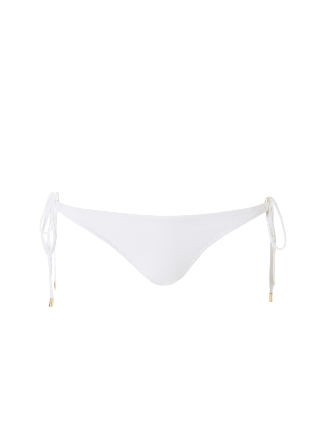 Exclusive Cancun White Ribbed Classic Triangle Bikini Bottom