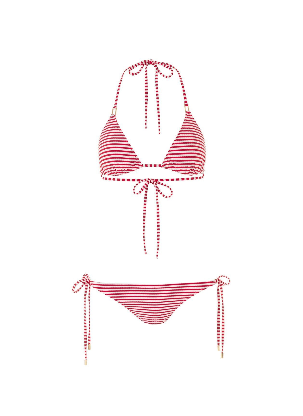 cancun bikini nautical red