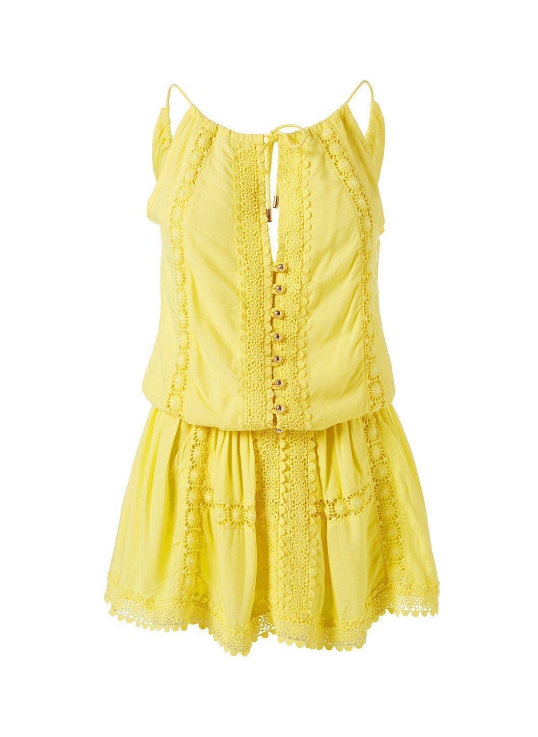 Chelsea Lemon Dress Cutout