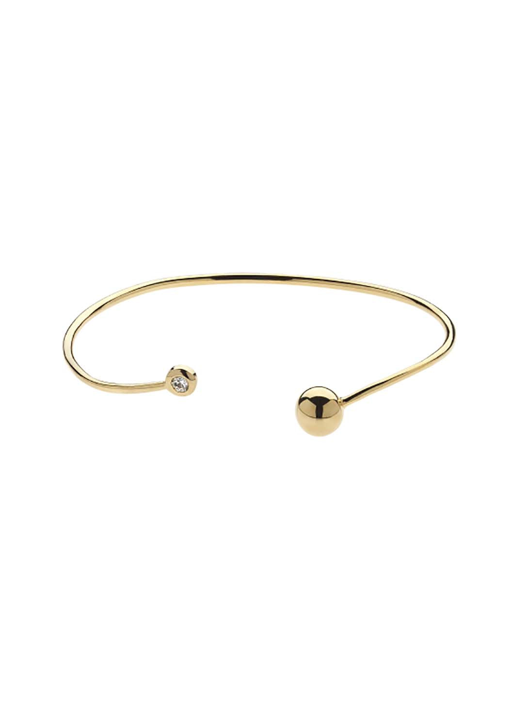 Gold Swarovski Ball Bangle