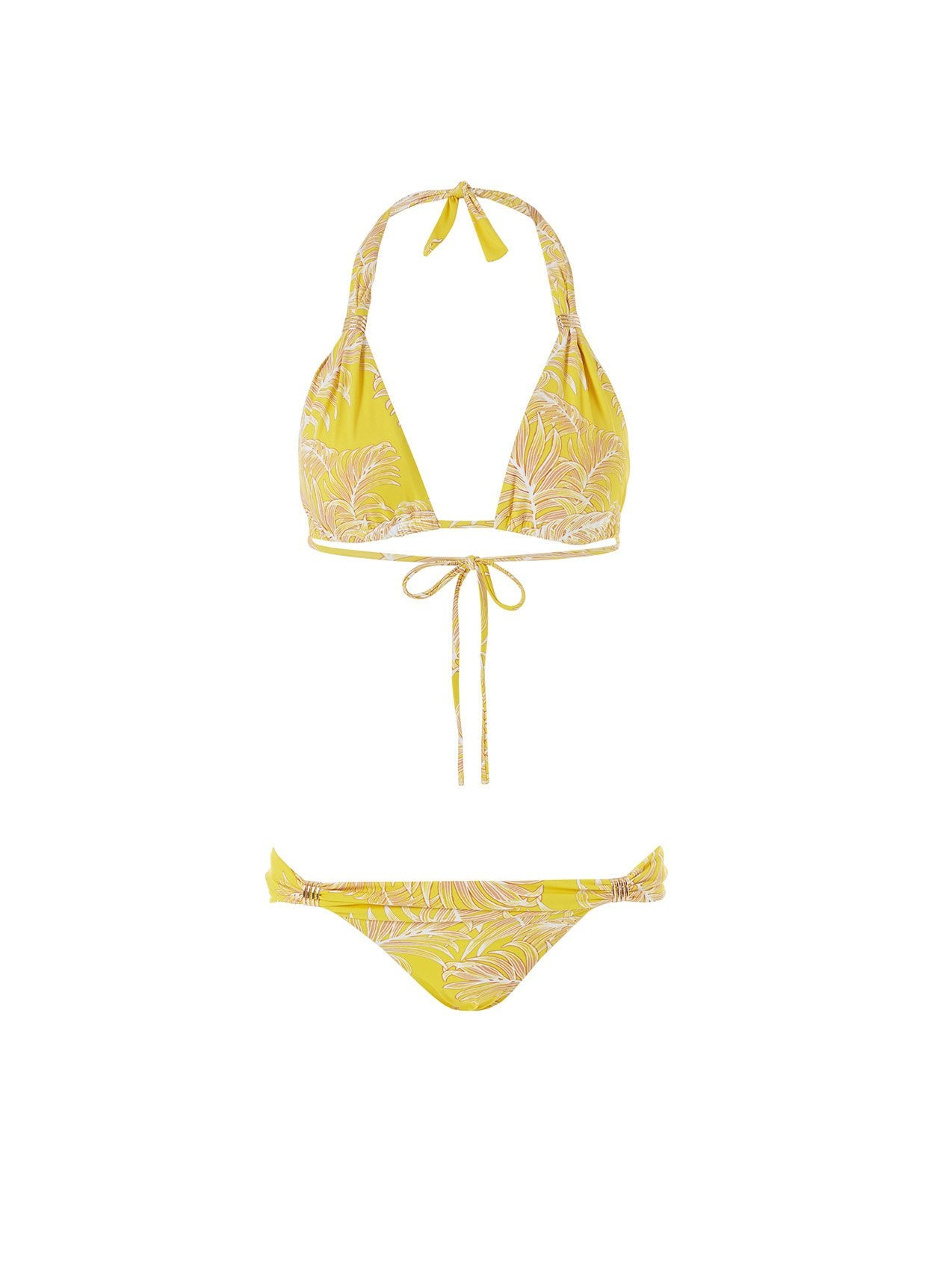 grenada tropical yellow halterneck bikini