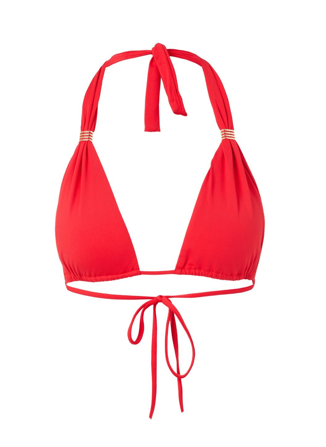 Grenada Red Adjustable Halterneck Bikini Top