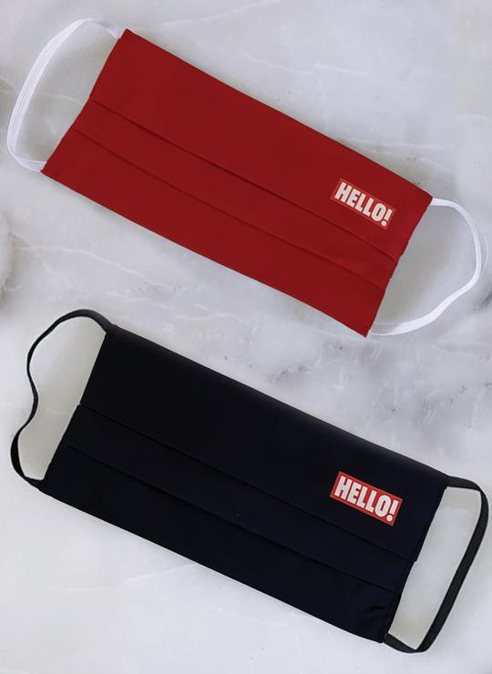 HELLO! MASK RED & NAVY