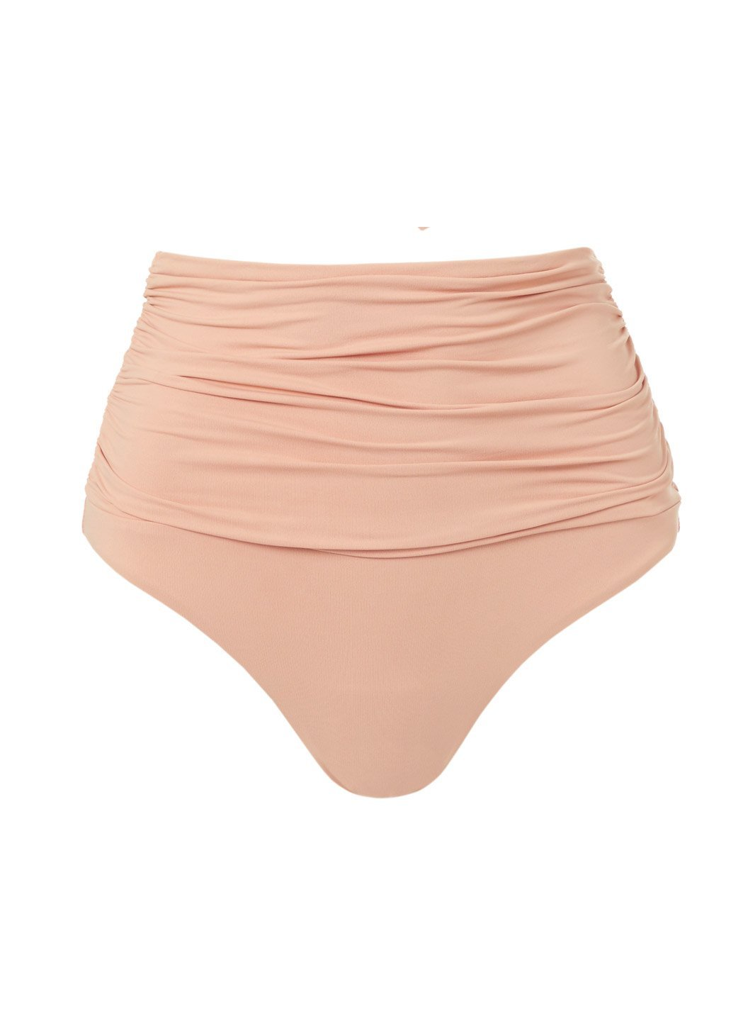 Lyon Tan High Waisted Ruched Bikini Bottom