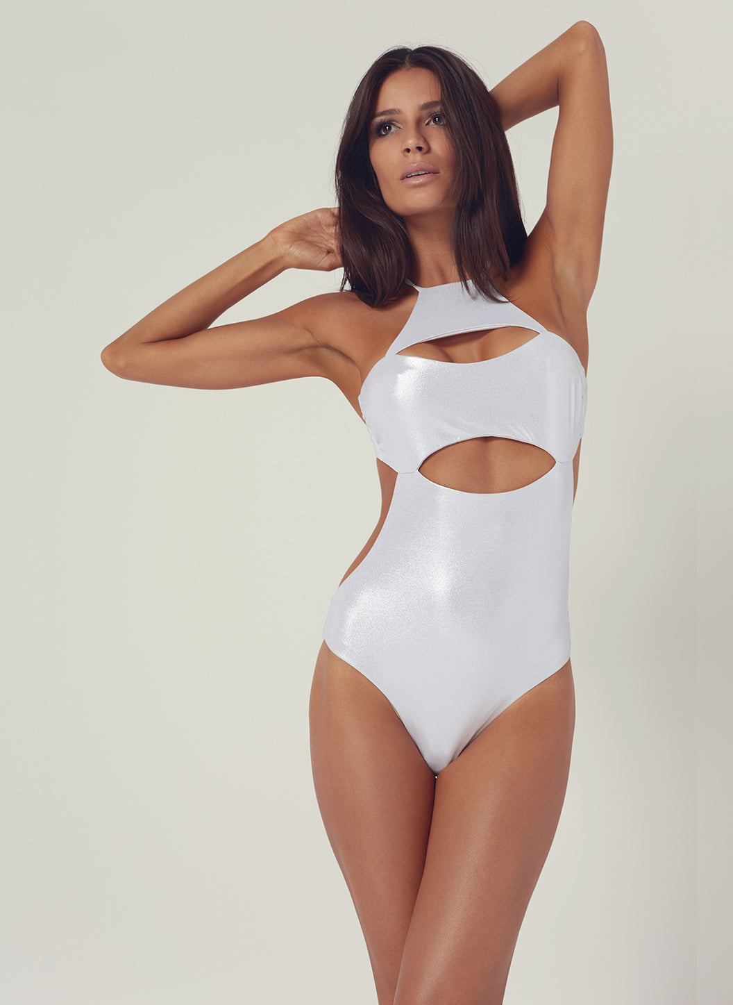 Look 23 Tie-Back Cut Out Onepiece Silver