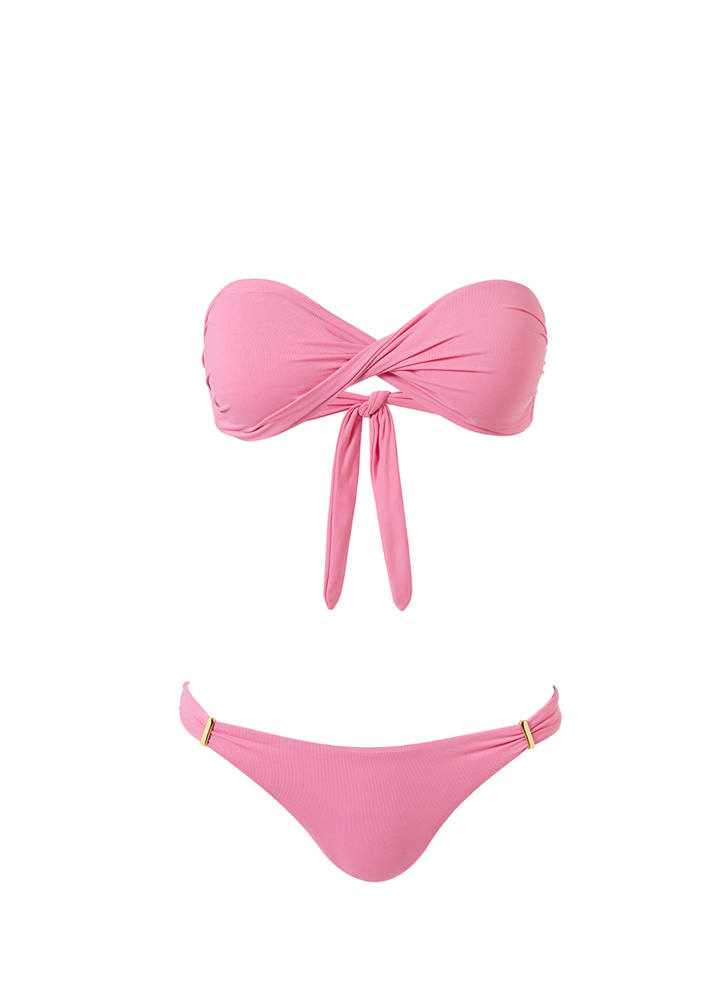 Exclusive Martinique Rose Bandeau Padded Twist Bikini
