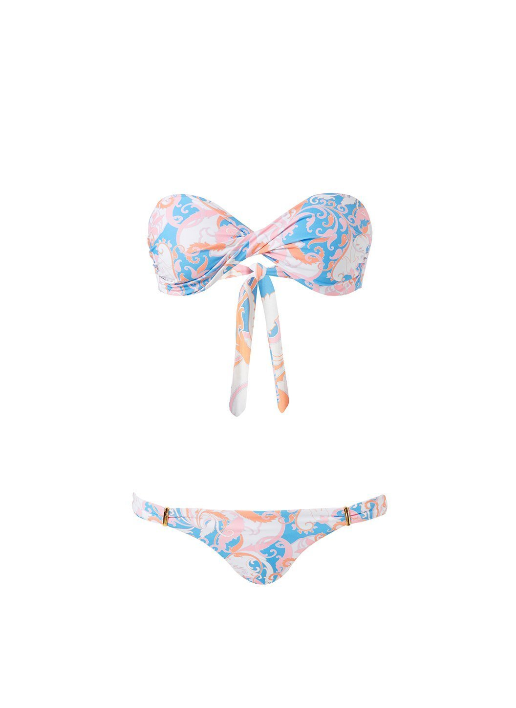 Martinique Baroque Blush Bikini Cutout