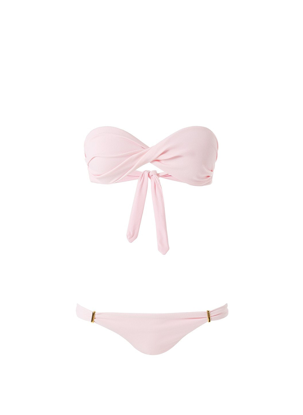 Martinique Ribbed Blush Bikini Cutout