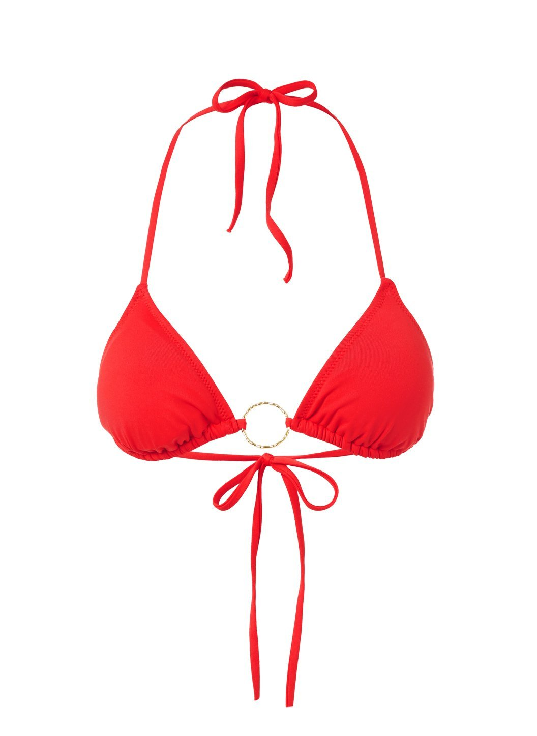 Miami Red Triangle Ring Bikini Top