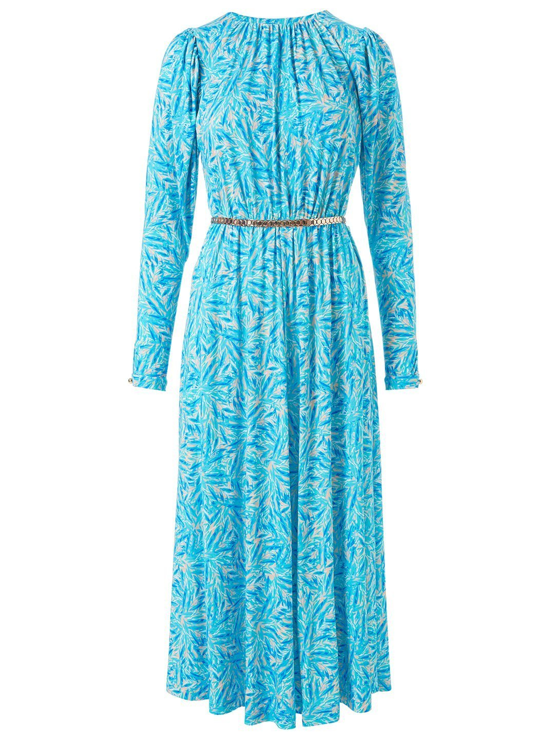 Nightingale Blue Leaf Dress Cutout