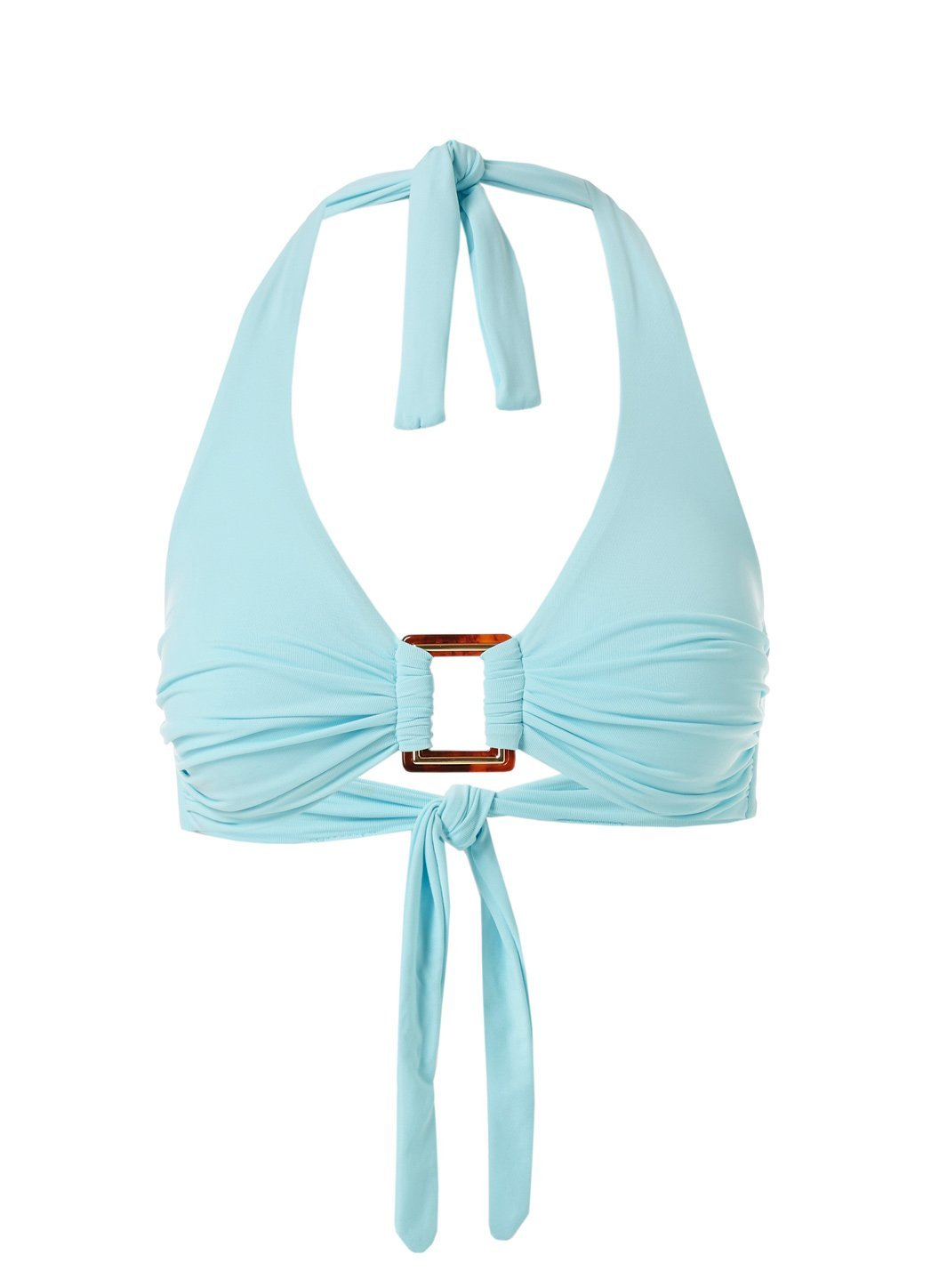 Paris Sky Halterneck Rectangle Trim Bikini Top