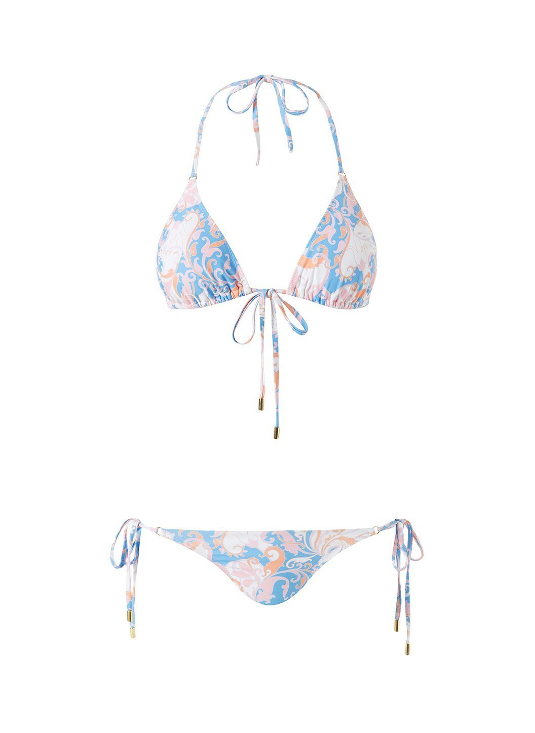 Porto Baroque Blush Bikini Cutout