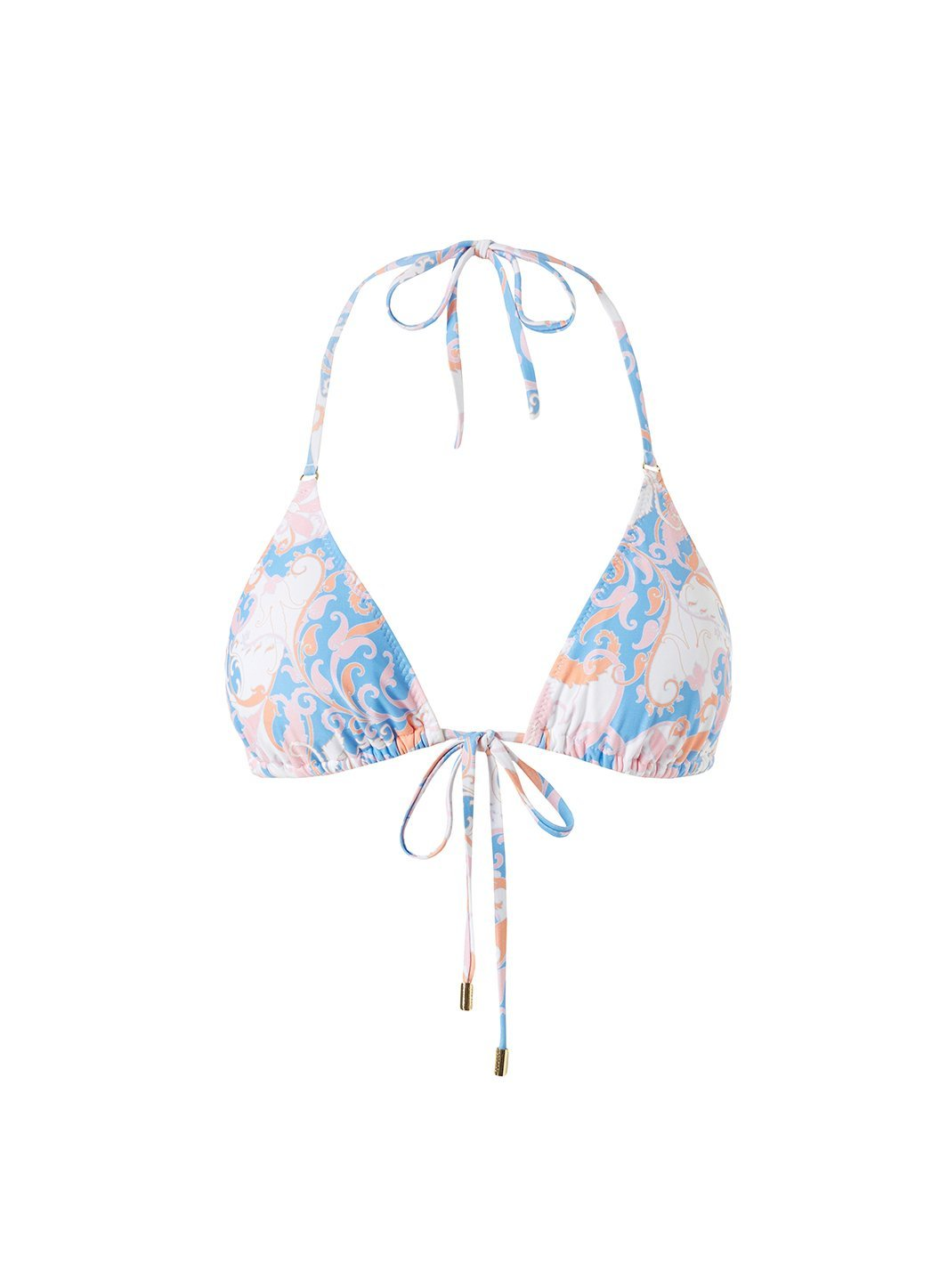 Porto Baroque Blush Bikini Top Cutout