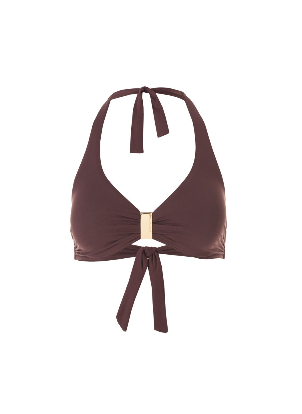 Exclusive Provence Walnut Halterneck Supportive Bikini Top