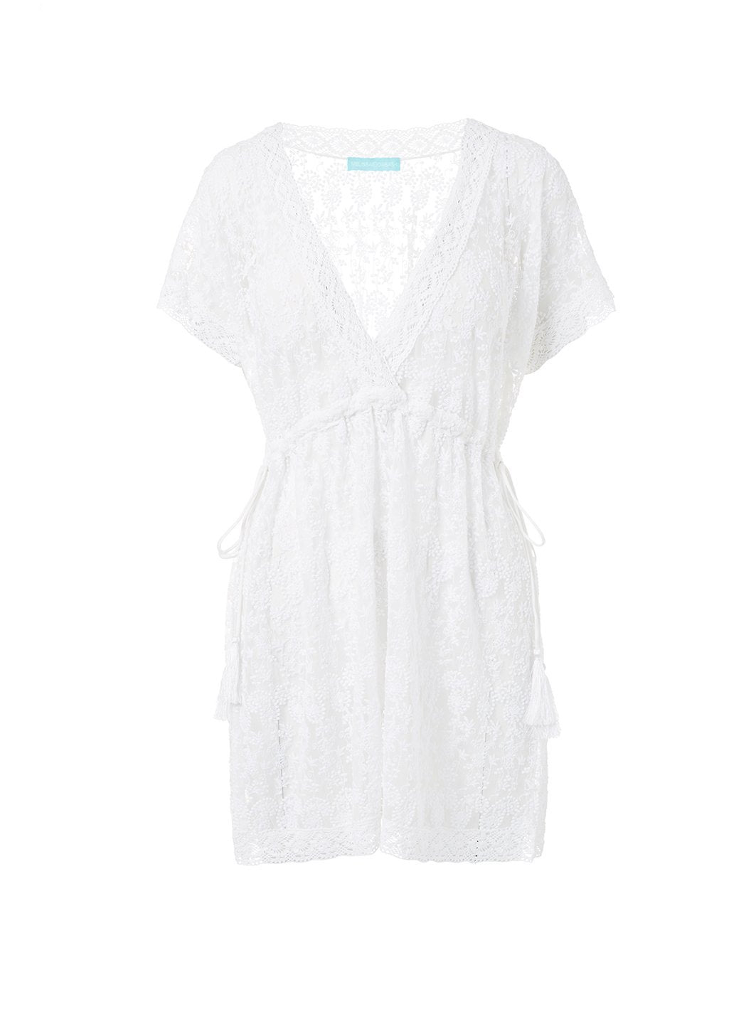 adelina white embroidered short tieside beach dress 2019