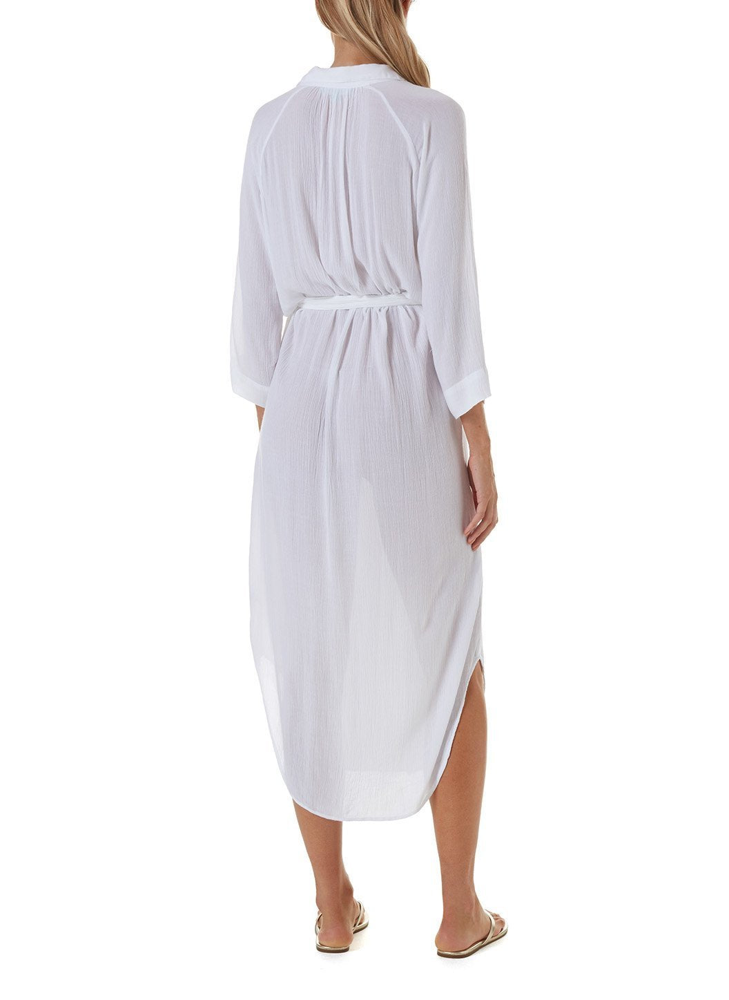 alesha white long shirt dress