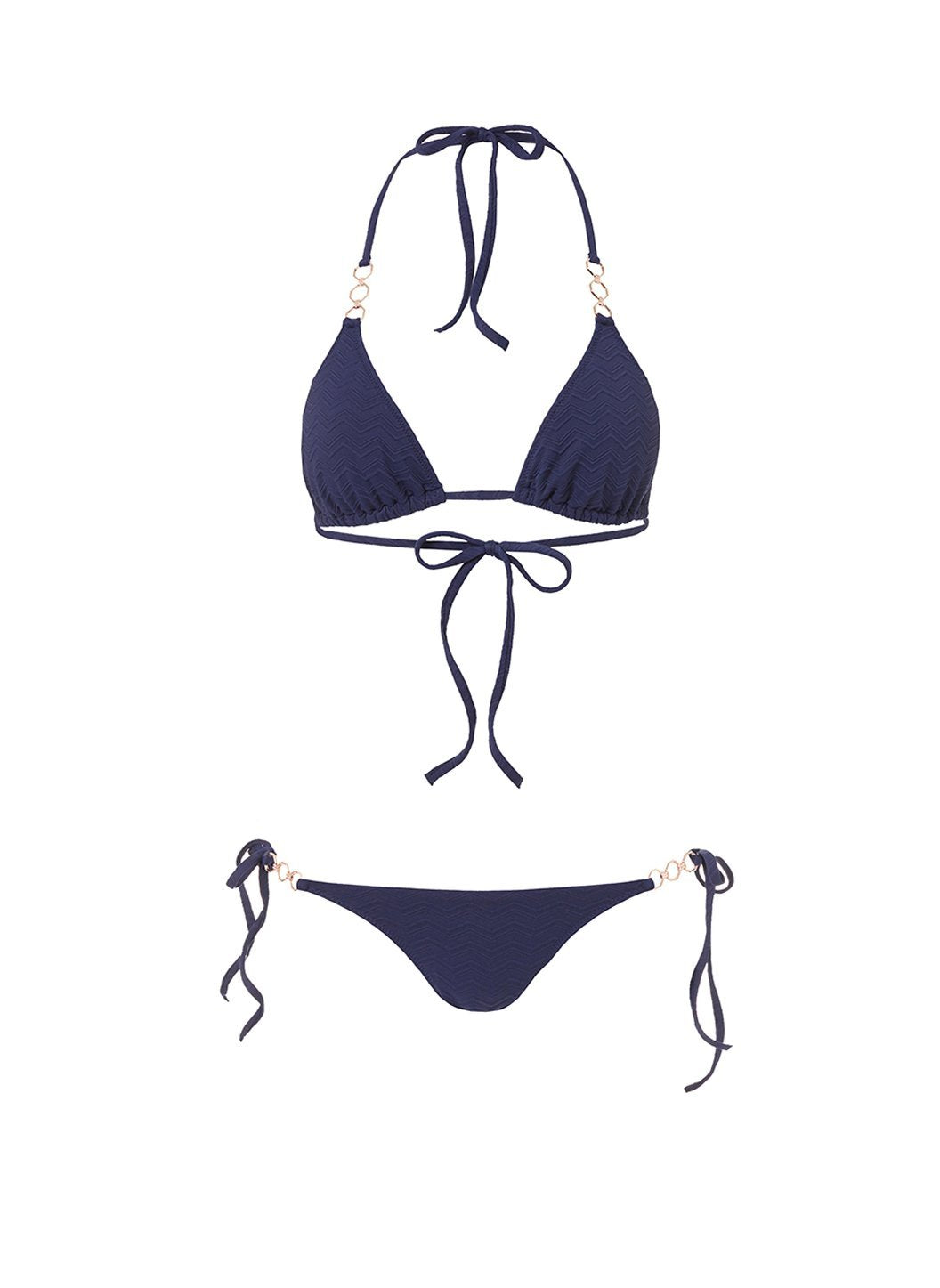 anguilla navy zigzag triangle triple ring bikini 2019
