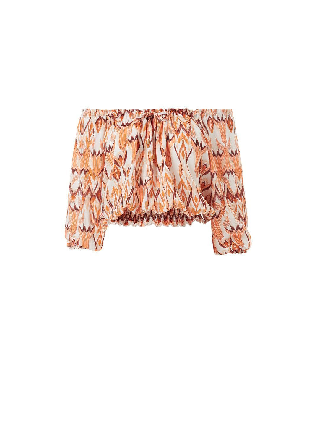 anne ikat offtheshoulder short sleeve top 2019